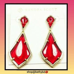 ⛱CCO⏬ Kendra Scott Alexa Gold Berry Glass Earring